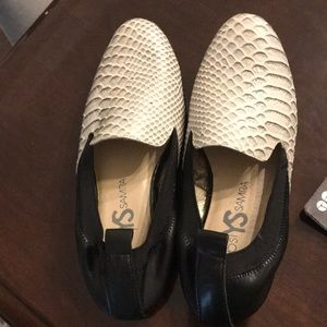 New Yosi Samra Loafer Croco Black print size 6